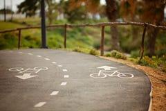 Signage майны велосипеда на улице Стоковое Изображение RF