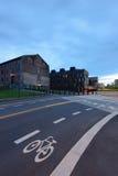 Signage майны велосипеда на улице Стоковая Фотография RF
