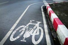 Signage майны велосипеда на улице Стоковое Изображение