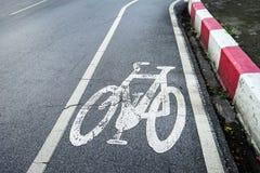Signage майны велосипеда на улице Стоковые Изображения RF
