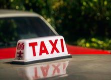 Signage такси Стоковое фото RF
