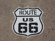 Signage трассы 66 покрашенный Стоковое Изображение RF