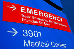 Signage 3 d'hôpital de secours Photos stock