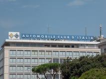 Signage ACI итальянца стоковое изображение