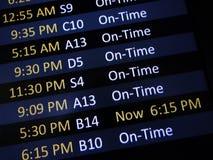 Signage atrasado do voo Imagens de Stock