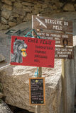 Signage at Bergerie de Melu at Restonica in Corsica Stock Photo