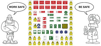 Signage collection Stock Image