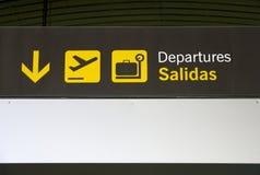 signage d'aéroport Photos libres de droits