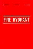 Signage da boca de incêndio de fogo Fotografia de Stock