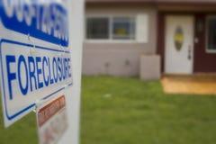 Signage da execução duma hipoteca Imagem de Stock