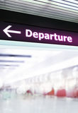Signage da informação do turista no aeroporto Imagem de Stock