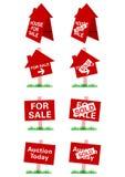 Signage da venda dos bens imobiliários do vetor ilustração stock