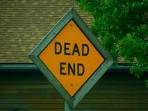 Signage de cul-de-sac photo libre de droits