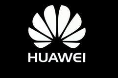 Signage de Huawei en noir et blanc Photos libres de droits