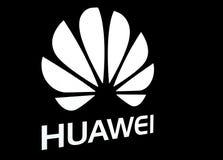 Signage de Huawei en noir et blanc Image stock