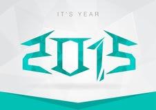 Signage de symbole d'icône de 2015 ans Nouvelle année avec un tex de diamant de pixel Photo stock