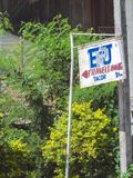 Signage de uma pensão local ao longo de Santo Tmas - Carmen Road, parte dianteira de Fotos de Stock Royalty Free