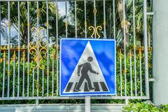 Signage der Kreuzungsstraße der Leute Lizenzfreies Stockbild