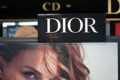 Signage Dior стоковое изображение