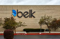 Signage do armazém de Belk Foto de Stock