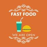 Signage do fast food do vintage Imagem de Stock