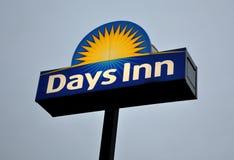 Signage do hotel do Days Inn fotografia de stock royalty free