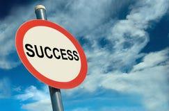 Signage do sucesso foto de stock royalty free