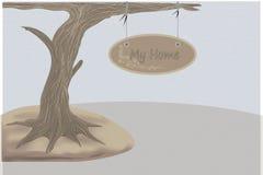 Signage do vintage na árvore Imagens de Stock