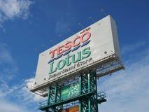 Signage dos lótus de Tesco Fotografia de Stock Royalty Free