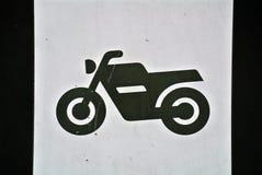 Signage eines Motorrades Lizenzfreie Stockfotografie