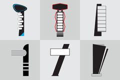 Signage ext?rieur de signe de pyl?ne de signe de monument de bureau annon?ant la construction illustration 3D illustration de vecteur
