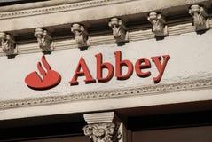 signage för abbeylondon national Arkivfoto