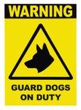 signage för patrull för hundarbetsuppgiftguard royaltyfria foton