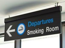 Signage für Raucherzimmer Stockbilder