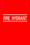 Signage of Fire Hydrant. On Red Metal Door Panel Stock Photography