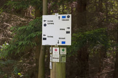 Signage in Forst royalty free stock images