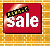 Signage garage sale Stock Afbeeldingen