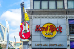 Signage of Hard Rock Cafe royalty free stock image