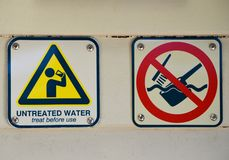 Signs at campground royalty free stock images