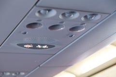 Signage interior plano não fumadores e da curvatura do cinto de segurança foto de stock