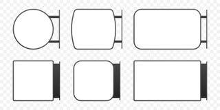 Signage licht doosuithangbord De vector verticale reeks van het de doosmodel van het rechthoek lightbox teken vector illustratie