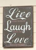 Signage, Live Laugh Love images libres de droits
