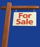 Signage para a venda Foto de Stock Royalty Free