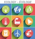 Signage pictogram om de milieu en ecologiesector te illustreren en voor te stellen royalty-vrije illustratie