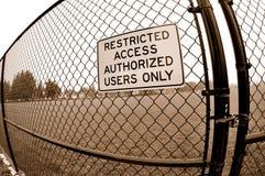 Signage restrito do acesso Imagem de Stock Royalty Free