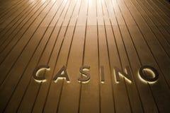 signage singapore казино Стоковая Фотография RF