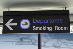 Signage for smoking area Royalty Free Stock Image