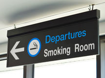 Signage for smoking room Stock Images