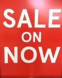 Sale On Now signage Royalty Free Stock Images