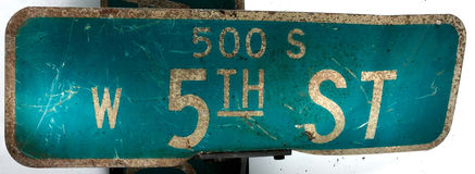 signage ulica Fotografia Royalty Free